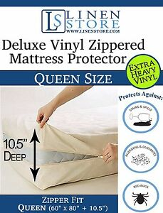Heavy Duty Vinyl Zippered Mattress Protector Waterproof