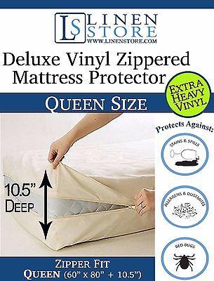 Heavy Duty Vinyl Zippered Mattress Protector Waterproof
