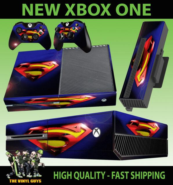 Xbox One Consola Pegatina Superman Lente Flair Skin & 2X MANDO PAD Skins