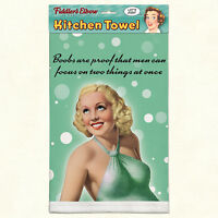 Fiddler's Elbow Vintage Humor Kitchen Towel - Men Can Focus On 2 Things At Once