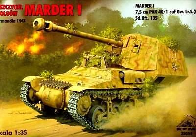 7,5 cm PAK 40/1auf Gw.Lr.S.(f) Sd.Kfz 135 MARDER I  - NORMANDY 1944 1/35 RPM