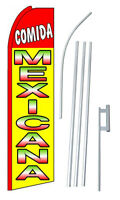 Comida Mexicana (mexican Food) Extra Wide Swooper Flag Kit