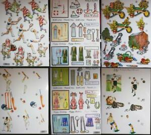 24 pictures to choose from Die-Cut Pyramid Decoupage /'Cartoon/'