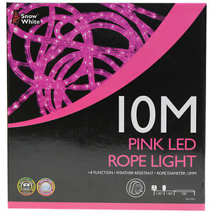 10 metre pink led strip rope light indoor outdoor christmas xmas image is loading 10 metre pink led strip rope light indoor aloadofball Image collections