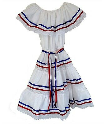 Dominican Made in Mexico Puerto Rican Cuban Colors Dress Ethnic Ribbons