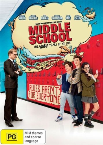 1 of 1 - MIDDLE SCHOOL - WORST YEARS OF MY LIFE DVD, REGION 4, NEW RELEASE, FREE POST