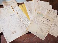 LOT DE 25 FACTURES ENTRETIEN  POUR UNE  VOITURETTE de 1913 à 1929