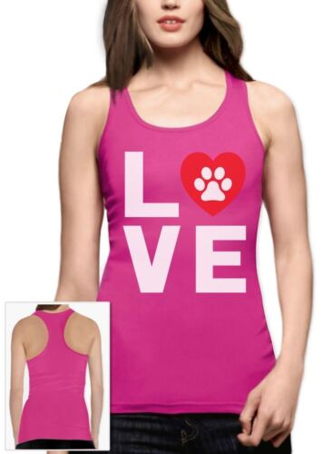 Love Dogs My Best Friend Racerback Tank Top Gift Animal Lover Dog Paw Print