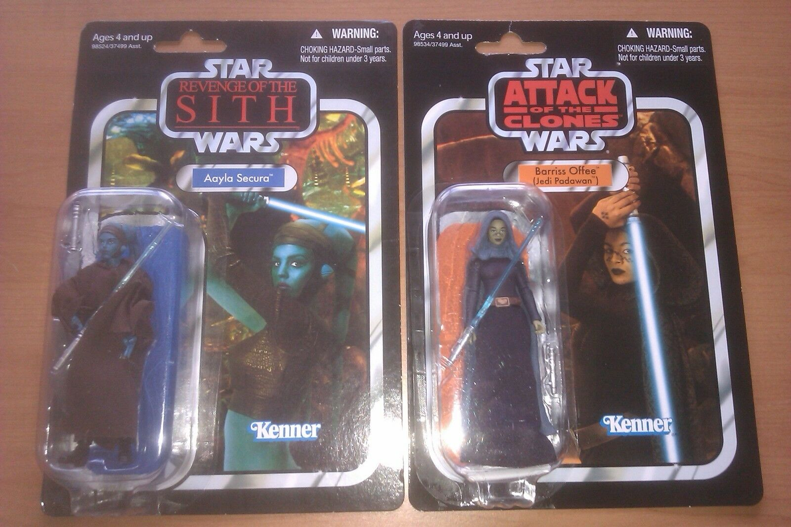 Aayla Secura & Barriss Offee Lot VC58 51 Star Wars Modern Vintage Collection