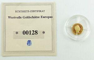 #e7271 Münze Wertvolle Goldschätze Europas 585 Gold *00128* Christian Ix. Weniger Teuer