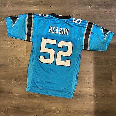 Reebok Jon Beason Mens Small (fits Like A Medium) Carolina Panthers Jersey | eBay