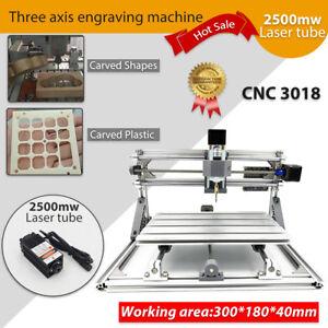 Laser-Graviermaschine-3-Achsen-CNC-3018-USB-Fraese-Router-Fraesmaschine-2500-mw