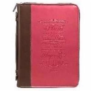 Art Chrétien Cadeaux 364141 Bible Cover-fashion & Je Sais Les Plans-large-rose-afficher Le Titre D'origine