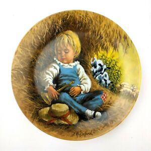 John-McClelland-034-Little-Boy-Blue-034-Mother-Goose-Series-Plate-RECO-1980