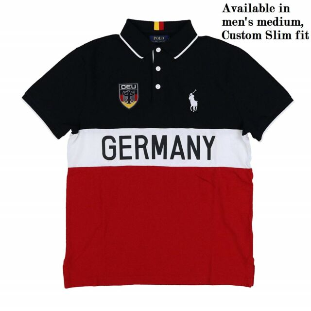 0448e308c373 Polo Ralph Lauren Men s size Medium Big Pony Germany Custom-Fit Mesh Polo  Shirt
