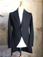 Vintage Bespoke Edwardian Morning Coat Tails Tailcoat Size 38 Mc134
