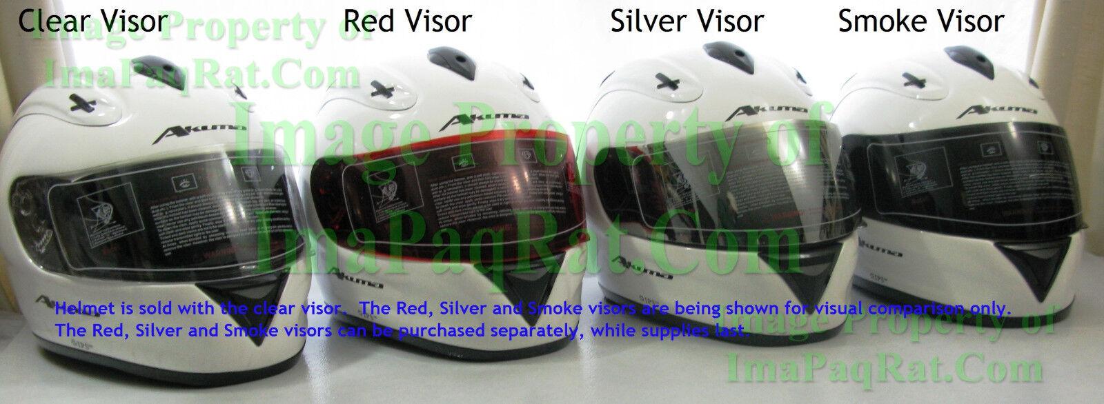 NEW AKUMA R2 SILVER Visor Fits ONYX Frost Specter /& Apache Helmets Face Shield
