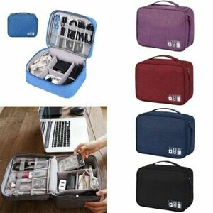 Travel Storage Bag Electronic USB Charger Case Data Cable Waterproof Organizer