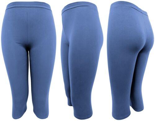 2x Leggings Damen kurz Radlerhose leichte Sommer-Leggings Shorts Caprihose