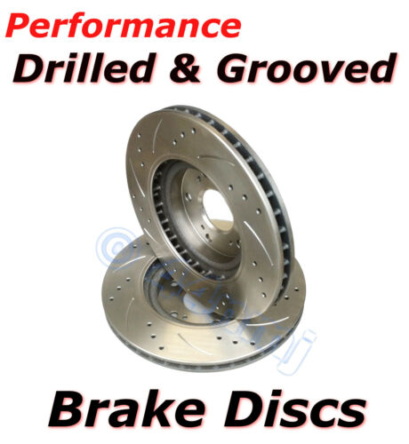 Performance Upgrade Drilled /& Grooved  Front Vented 326mm Brake Discs High Quali