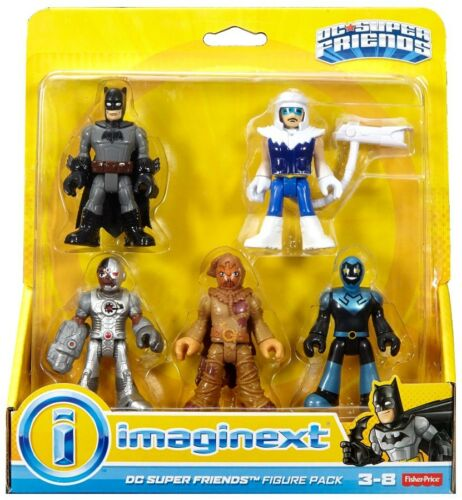Batman Cyborg épouvantail /& Capitaine froid 3-inch Figure 5-Pack Blue Beetle