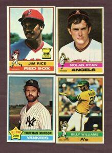140-1976-Topps-Lot-Ryan-Schmidt-Munson-Yaz-Seaver-Reggie-Lynn