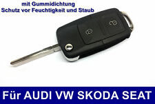 2T Klappschlüssel für VW GOLF BORA PASSAT TOURAN BEETLE POLO CADDY Gehäuse