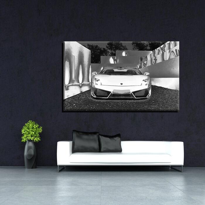 LEINWAND BILD BILDER XXL POP ART ABSTRAKT LAMBORGHINI FERRARI AUTO BIS 150x90