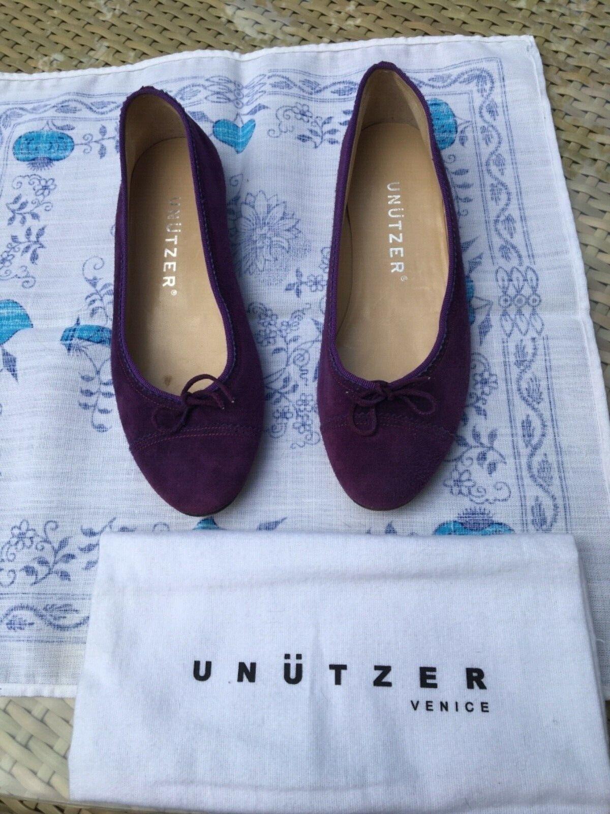 UNÜTZER Schuhe Ballerina  Gr.38 Lila