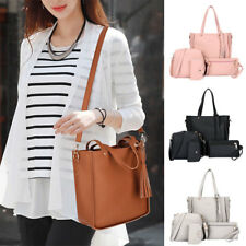 F195 Shoulder Bag Lichee Pattern 4Pcs/Set Women Accessory Handbag Gifts