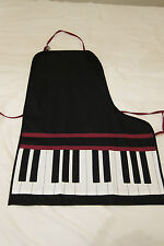 Piano Apron Party Hostess Workshop Cooking Gifts Piano Keys Music 100% Cotton