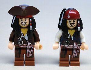 X2-neue-LEGO-Jack-Sparrow-Minifigs-Piraten-der-Karibik-4195-4194-4183