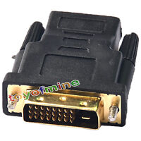 Connector Adapter HDTV PC LCD Monitor HDMI Female To DVI D Male Gender Converter