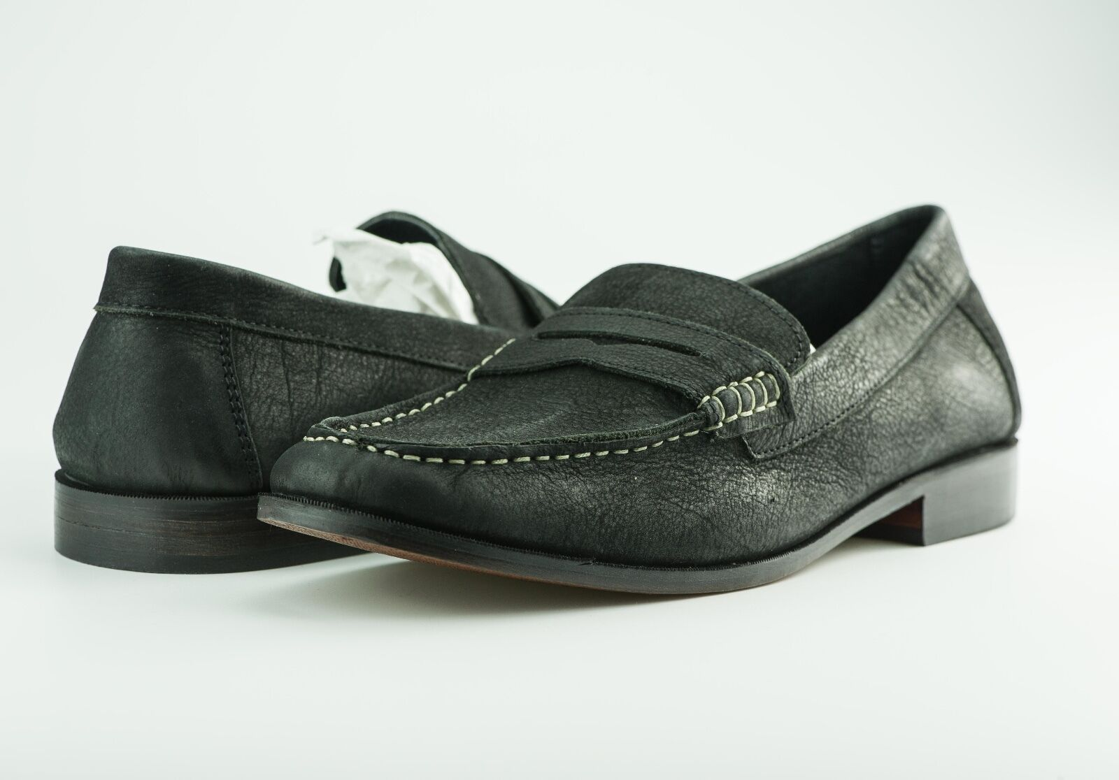 HARRYKSON Leder Gr. Mokassins / BusinessSchuhe Gr. Leder 44 Schwarz Slipper 480b6c