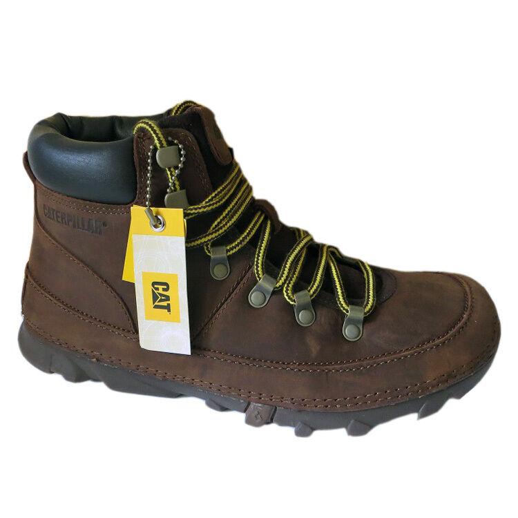 Caterpillar Brockton P715372 Schuhe Boots Stiefel Herren braun Leder CAT NEU