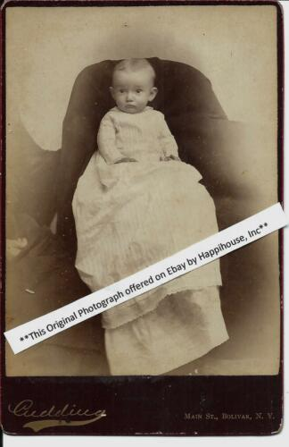 1885 Hidden Mother Cabinet Photo Baby Lacy McIntosh Bolivar NY
