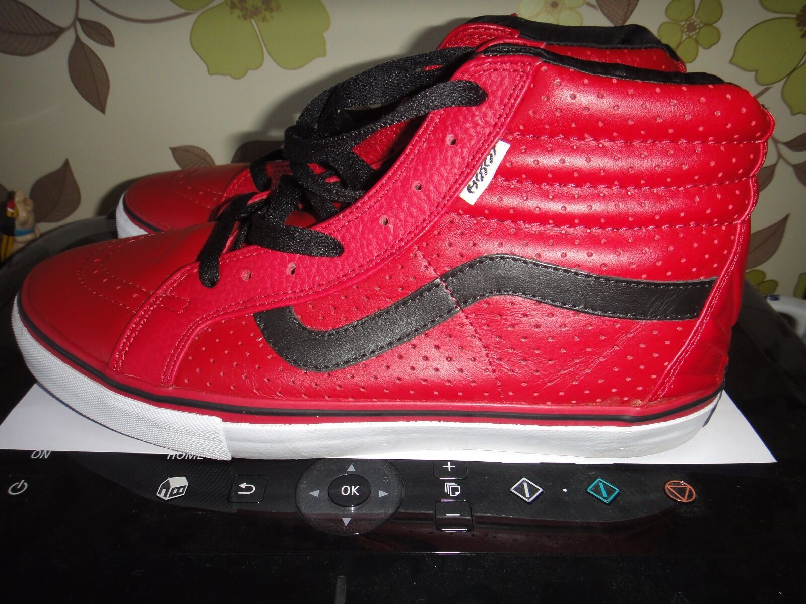 Vans Skateboarding SK8 Hi Vert Hosoi Hammerhead Rosso Pro Scarpa Taglia 8.5