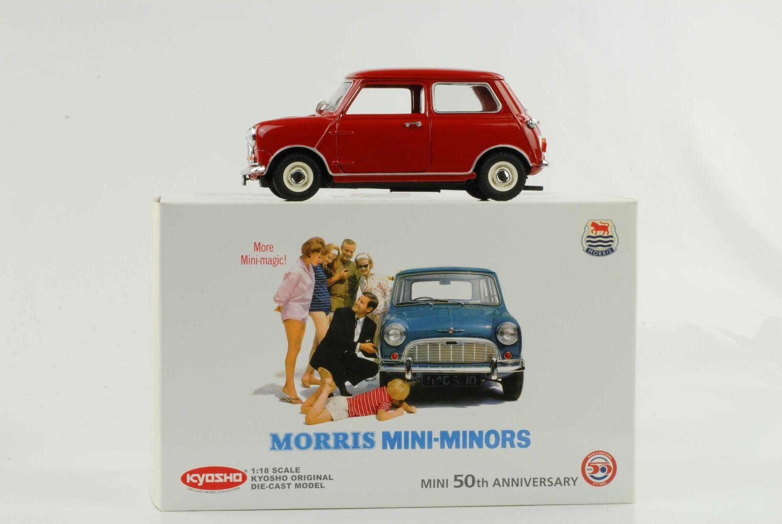 Morris mini 1959 Minors 50th Anniversary rojo DIECAST 1 18 Kyosho