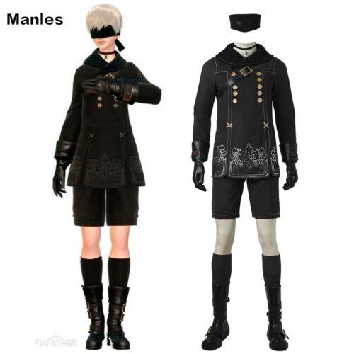 9 Type S Costume Adventure Game Fancy Dress Cosplay New NieR:Automata YoRHa No