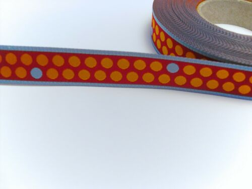 1 m webband naranja azul rojo puntos 12 mm blaubeerstern