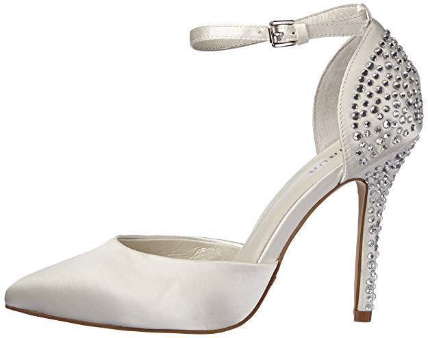 RP  MENBUR Tina Tina Tina Marfil Diamante Satén Tira al Tobillo Zapatos De Novia Talla 6 39 BNWB  venta al por mayor barato