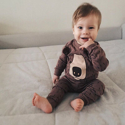 "NWT Vaenait Baby Infant Toddler Kid Clothes Sleepwear Pajama Set ""Real Bear"""