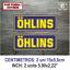 Sticker-Vinilo-Decal-Vinyl-Aufkleber-Adesivi-Autocollant-Ohlins-Suspension-AZOSS miniatura 6