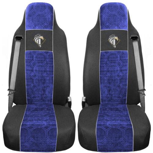 Iveco Eurocargo ab 2008 Passform Schwarz Blau Bezüge Auto Sitzbezüge LKW 2Gurte