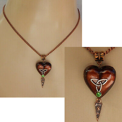 Necklace Celtic Heart Pendant Chain Copper Pendant Jewelry