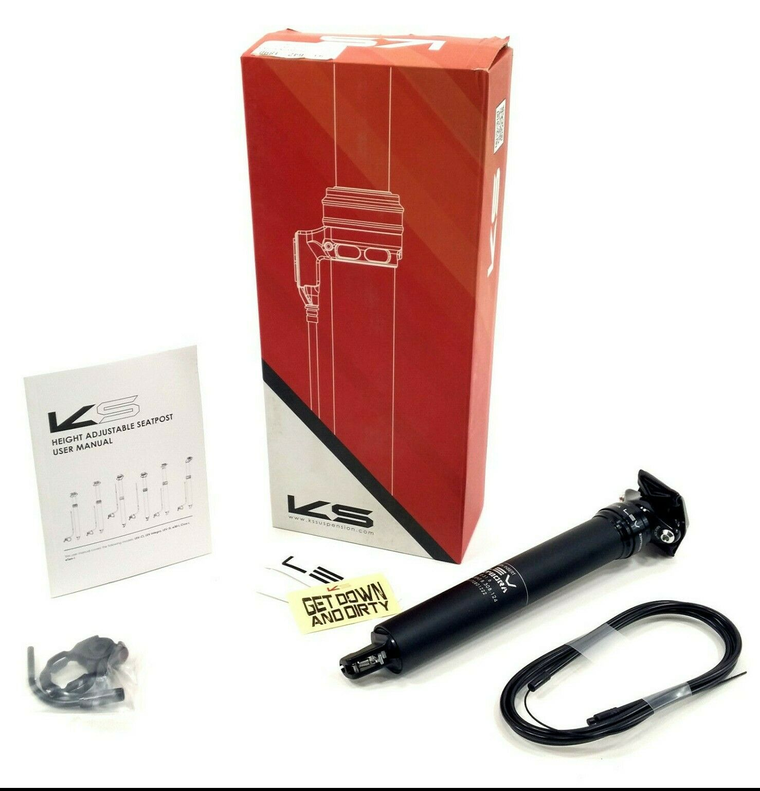 KS KindShock Dropper LEV Integra Seatpost w Remote 31.6  390mm 125mm Travel