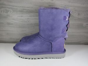 62511ddbcee Details about UGG Bailey Bow II Women's Boots Size 5 Color PURPLE SAGE New  With Box