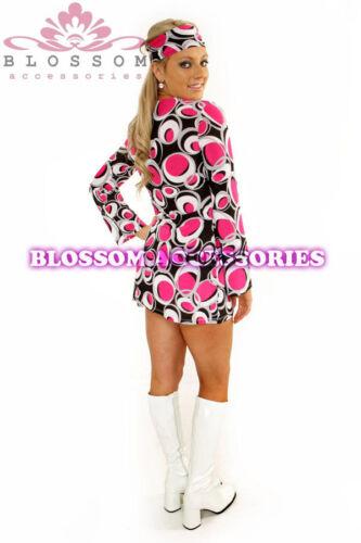 714 60s 70s Retro Hippie Go Go Girl Disco Dress Costume