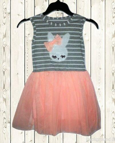 NEW Easter Bunny Sequin Rabbit Girls Sleeveless Tutu Dress 2T 3T 4T 5T