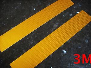 NASTRO ADESIVO 3M 983 RIFRANGENTE RIFLETTENTE IN 3 COLORI 3 STRISCE 55mm x 20cm